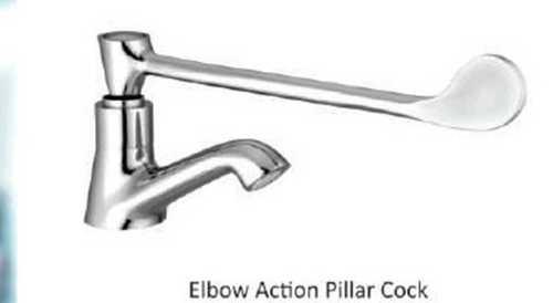 Elbow action pillar cock