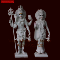 Lord Shiv Parvati Mable Statue
