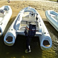 Liya Rib 430 Small Hypalon Fiberglass Hull Rib Boat For Sale