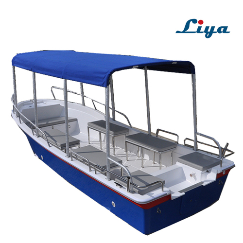 Liya 5.8m/19 Feet Fiberglass Panga Boat Water Taxi Passenger Tour Boat For Sale