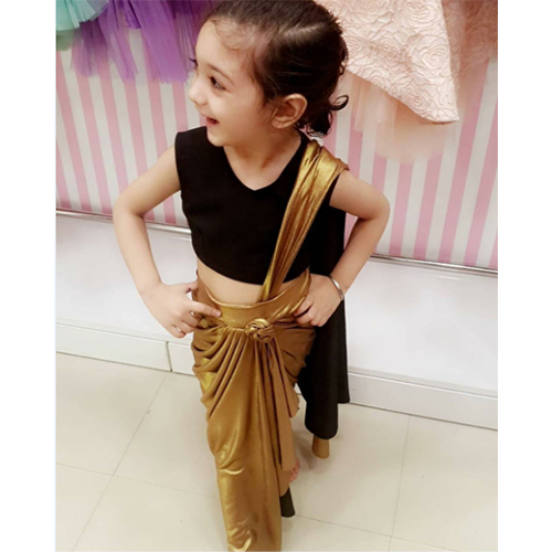 Baby Girl Ethnic Fusion Saree