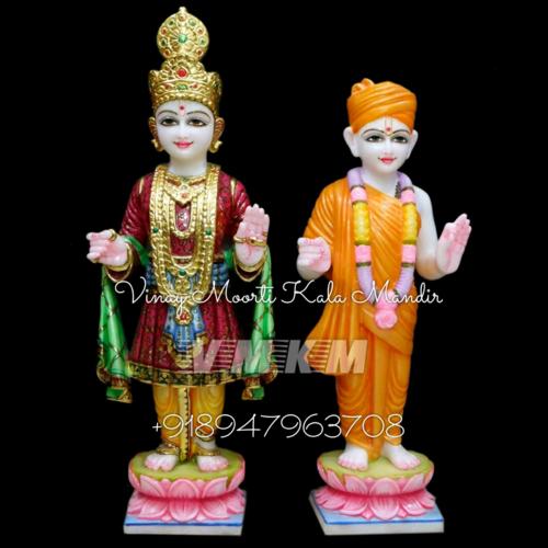 Baps Swaminarayan Marble Statue