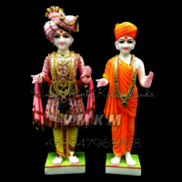 Makrana Marble Swaminarayan Statue