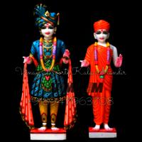 Multicolor Marble Swaminarayan Statue