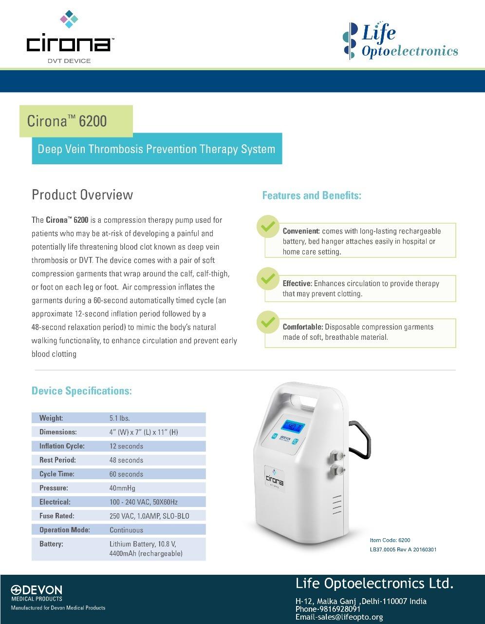 Cirona 6200 - DVT Pump