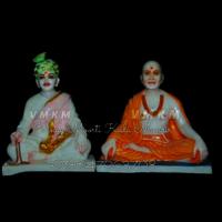 Pranmukhi Swami Marble Statue