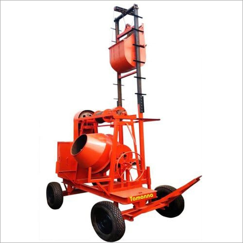 Hopper Lift Concrete Mixer Machine