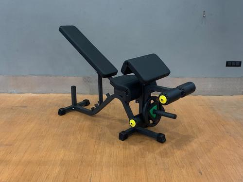 ADJUSTABLE BENCH WITH PRECHARE AND LEG CURL
