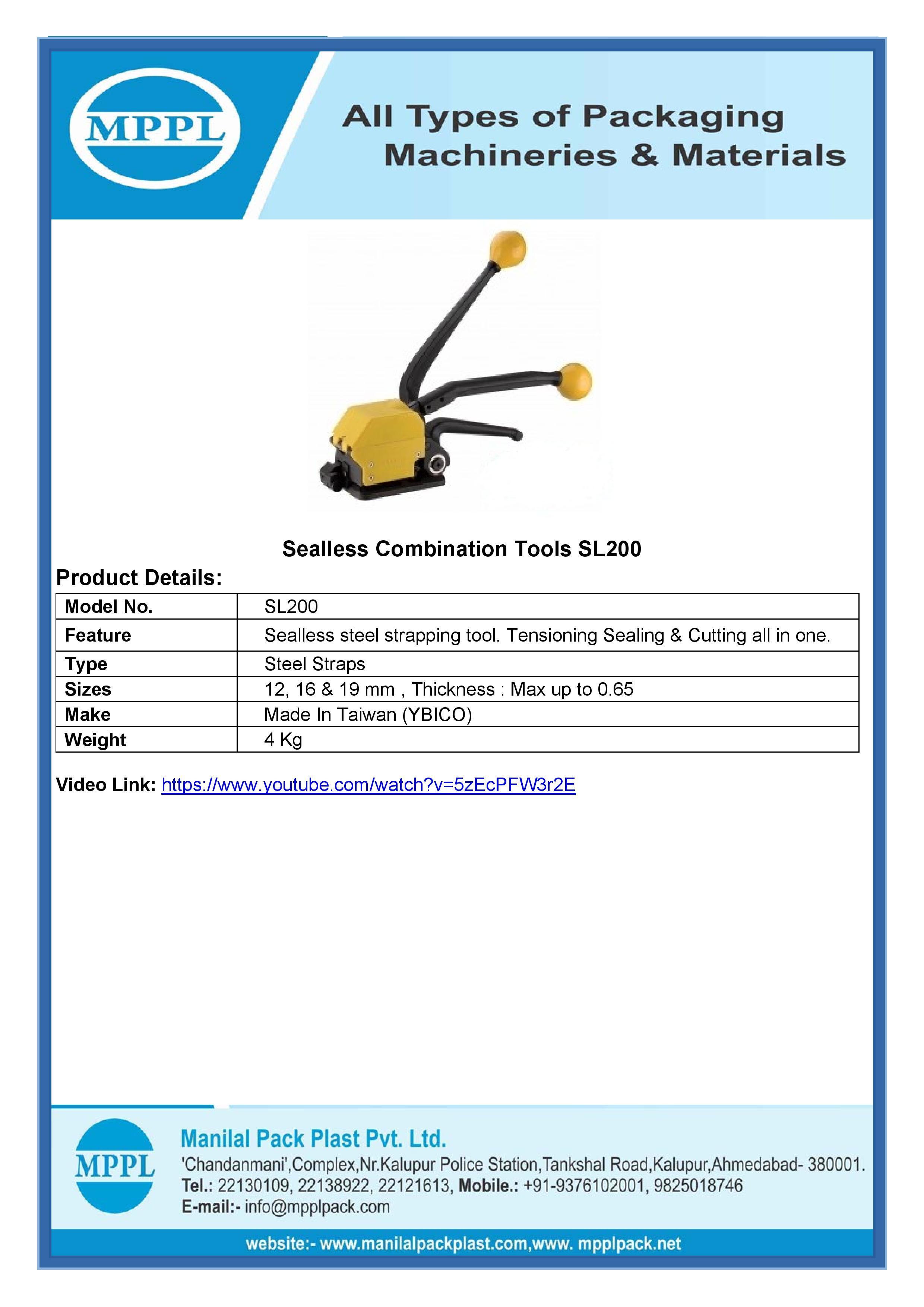 Sealless Combination Tools SL200