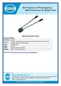 Steel Strap Sealer C3160