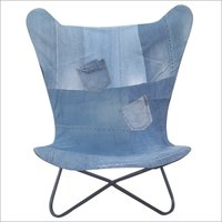 Denim Butterfly Chair
