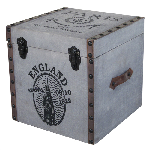 Leather Designer Storage Box