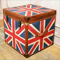 Leather Unionjack Storage Box