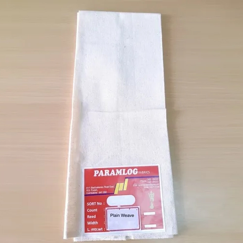 100% Cotton bleached drill fabric 20s x 20s, 63 inch, 335 gm/meter