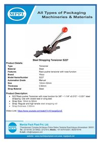 Steel Strapping Tensioner S227