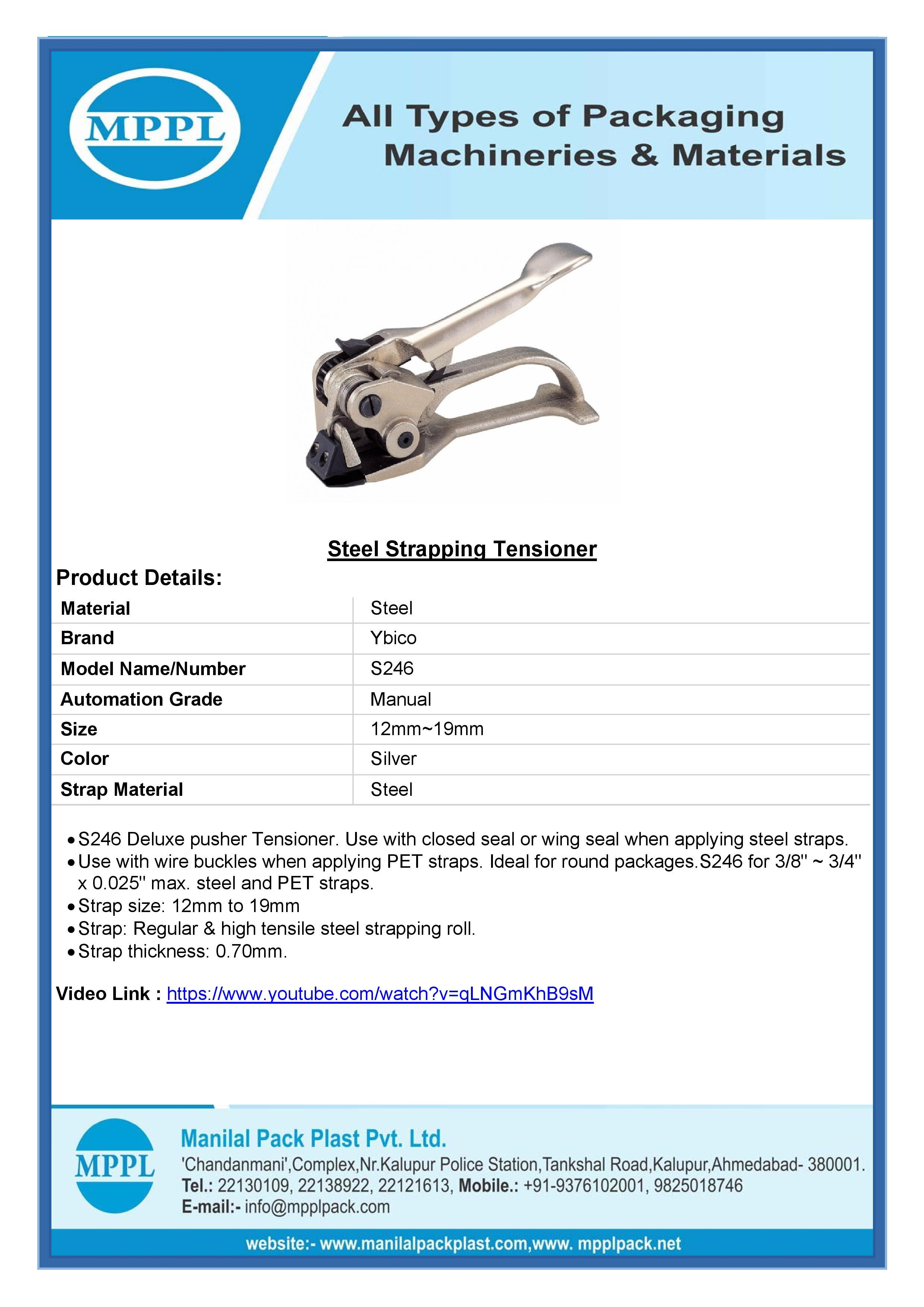 Steel Strapping Tensioner S246