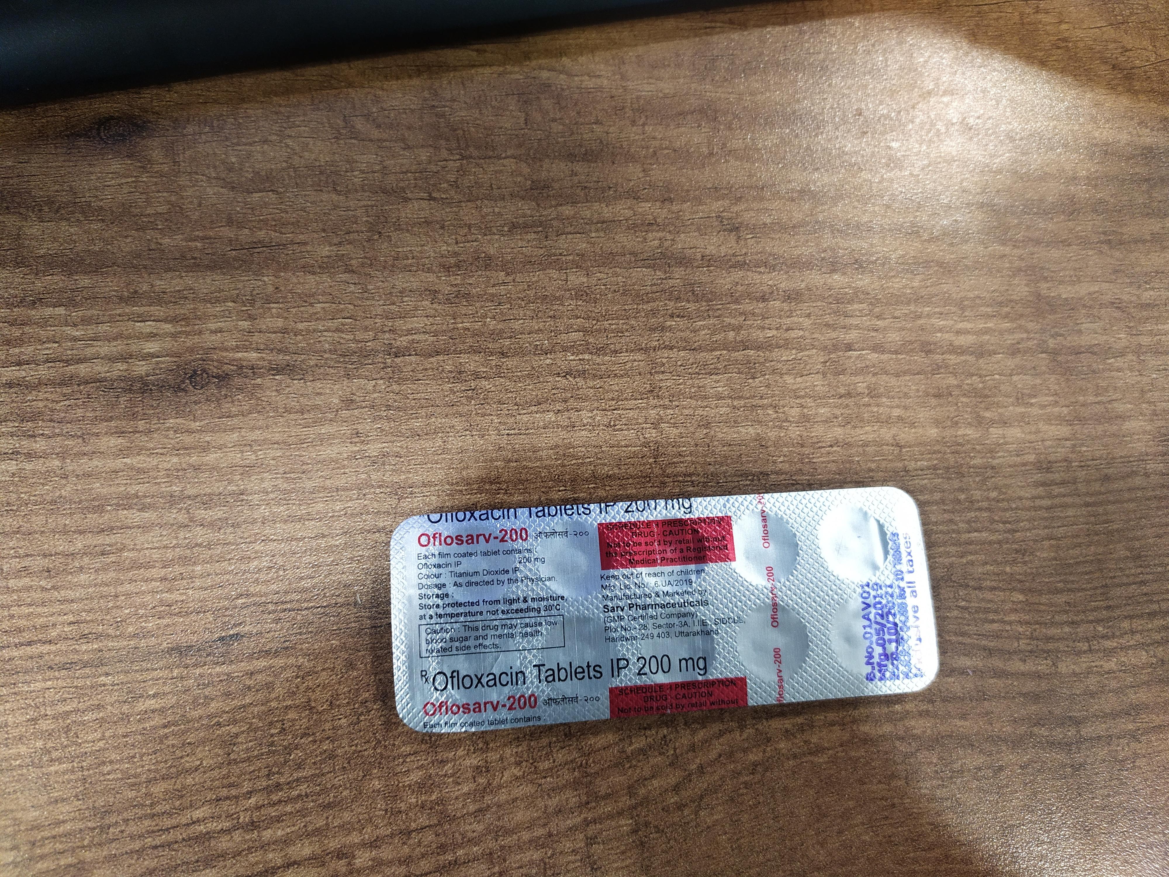 Ofloxacin Tablets 200mg