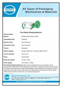 Floor Model Strapping Machine