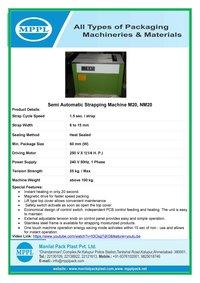 Semi Automatic Strapping Machine NM20