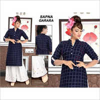 Ladies Cotton Kurti With Palazzo