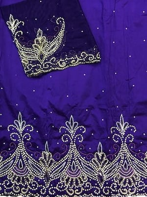 African George Lace Fabric with Sequin Nigerian George Wrapper