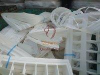 PP White Sheet on Bales