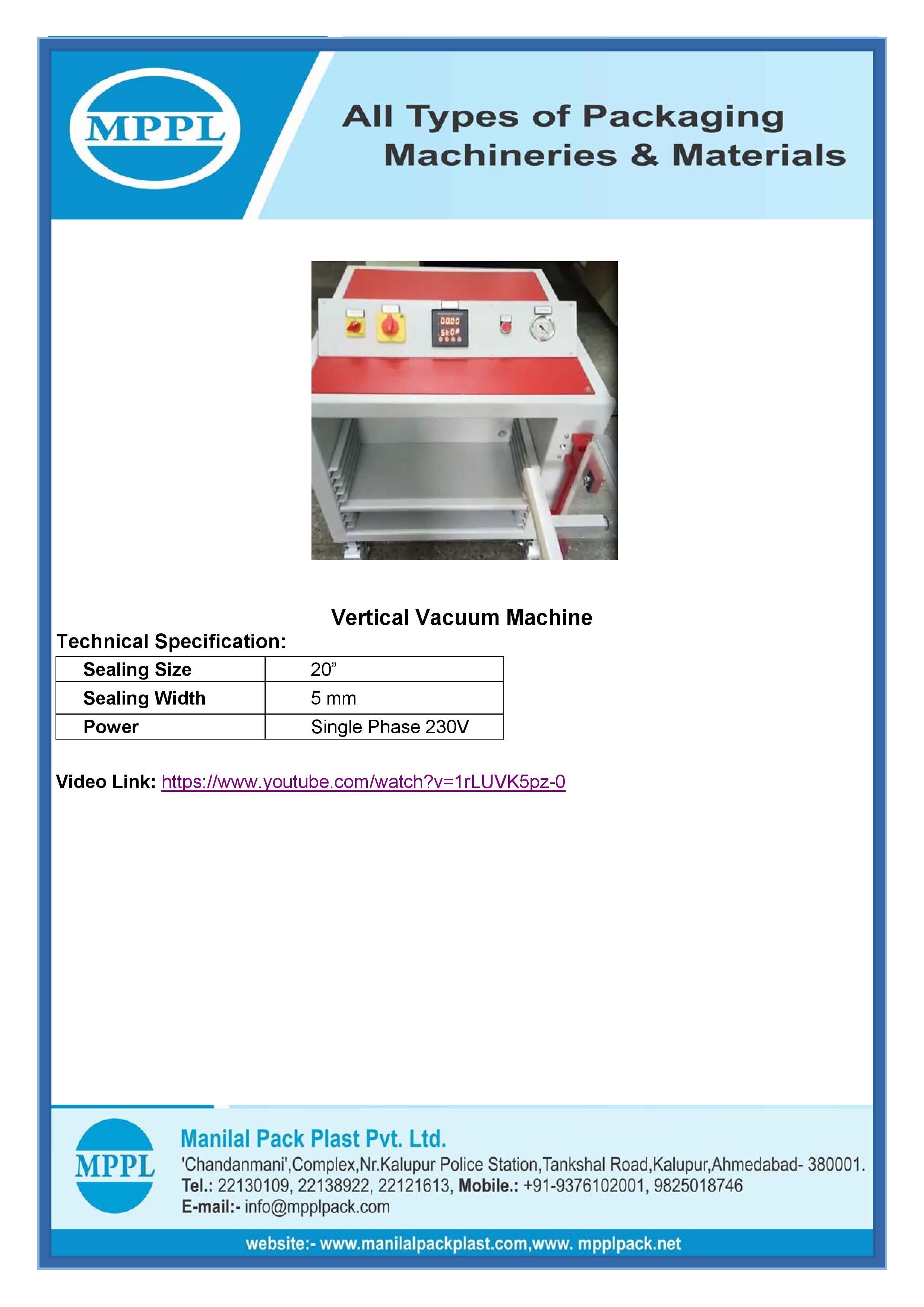 Vertical Vacuum Machine