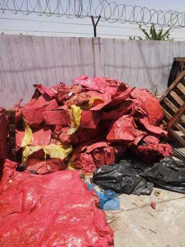 Red Latex rubber scrap