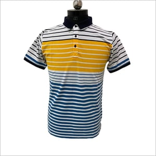 Mens Collar Neck T Shirt