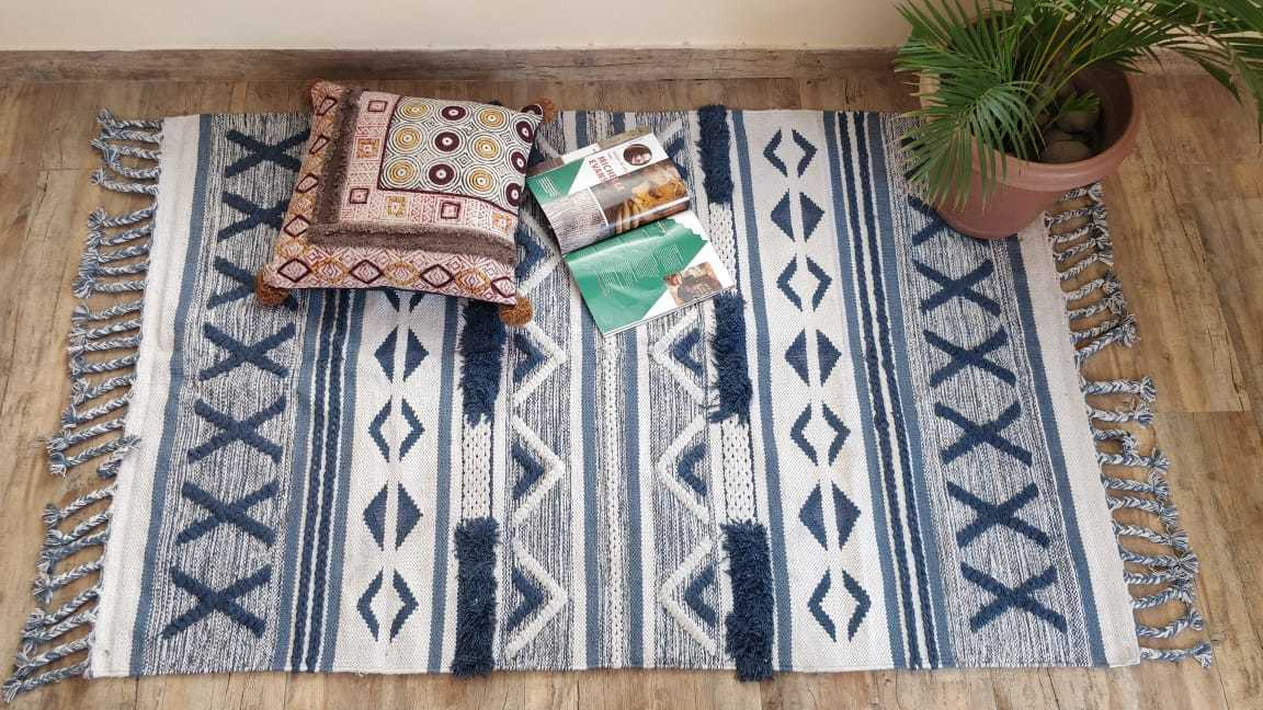 Handmade Cotton Pile Rug