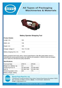Battery Operator Strapping Tool