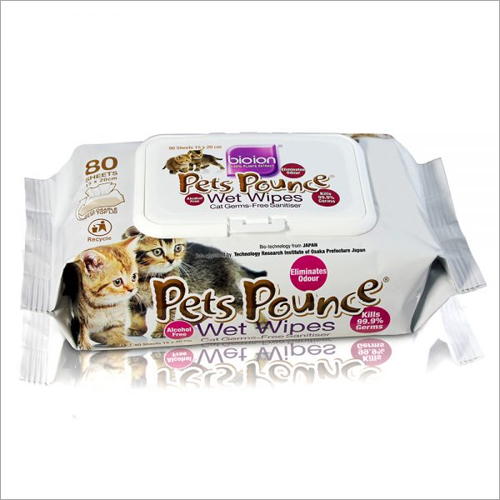 Pets Wet Wipes Non-Aocohol 80 Sheet (Multipurpose)
