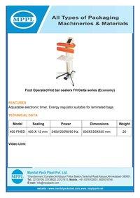 Foot Operated Hot bar sealer FH Series (Premium)
