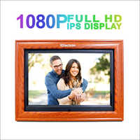 12 inch IPS Wooden Digital Photo Frame/Video Frame, Plays Images, Video & Music