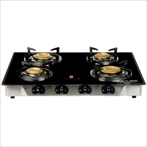 Elite Four Burner Glass Top Gas Stove