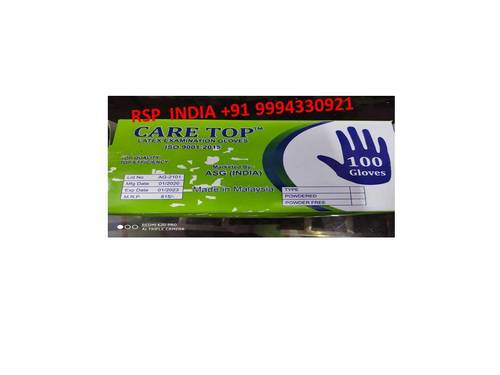 Care Top Latex Examination Gloves