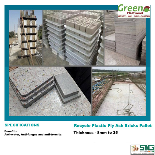 Recycle Plastic Bricks Pallets