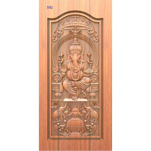 God Carved Laminated Door