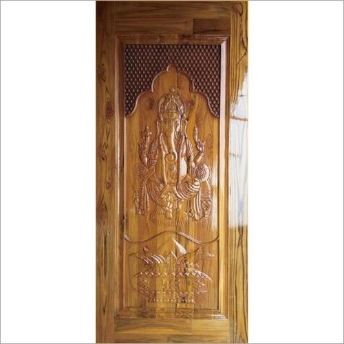 Ganesh Design Wooden Door