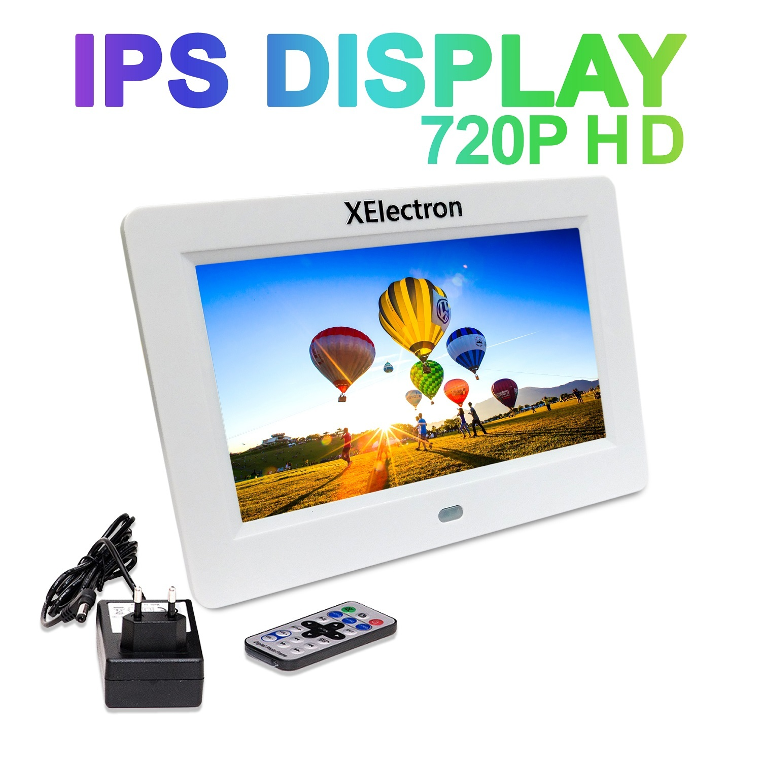 7 inch IPS Display BIS Certified Digital Photo Frame/Video Frame Plays Images, Video & Music