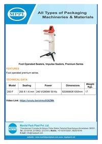 Foot Operated Sealers Premium Series
