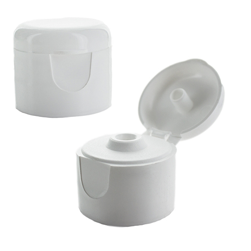 Plastic White Flip Top Bottle Cap