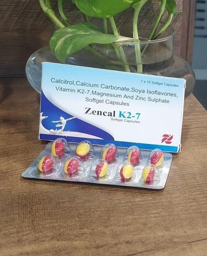 Calcitrol Calcium Carbonate, Soya Isoflavones, Vitamon K2-7, Magnesium and Zinc Sulphate Softgel Capsules