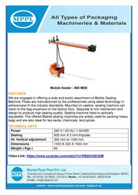 Mobile Sealing Machine