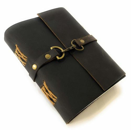 Buffalo Leather Lock Diary Journal