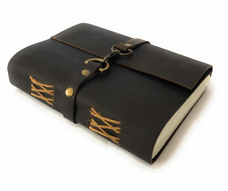 Buffalo Leather Lock Diary Journal
