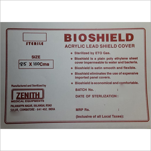 Bioshield Acrylic Lead Shield Cover