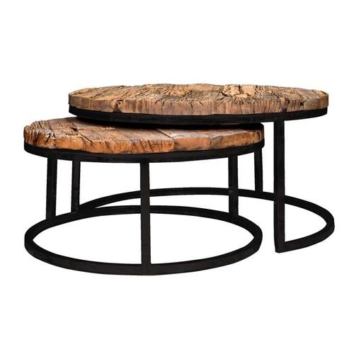Sleeper Wood Round Coffee Table