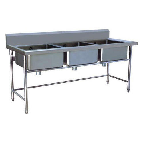 Three Sink Dishwashing Unit
