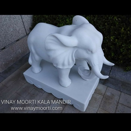 White Marble Elephant Idol